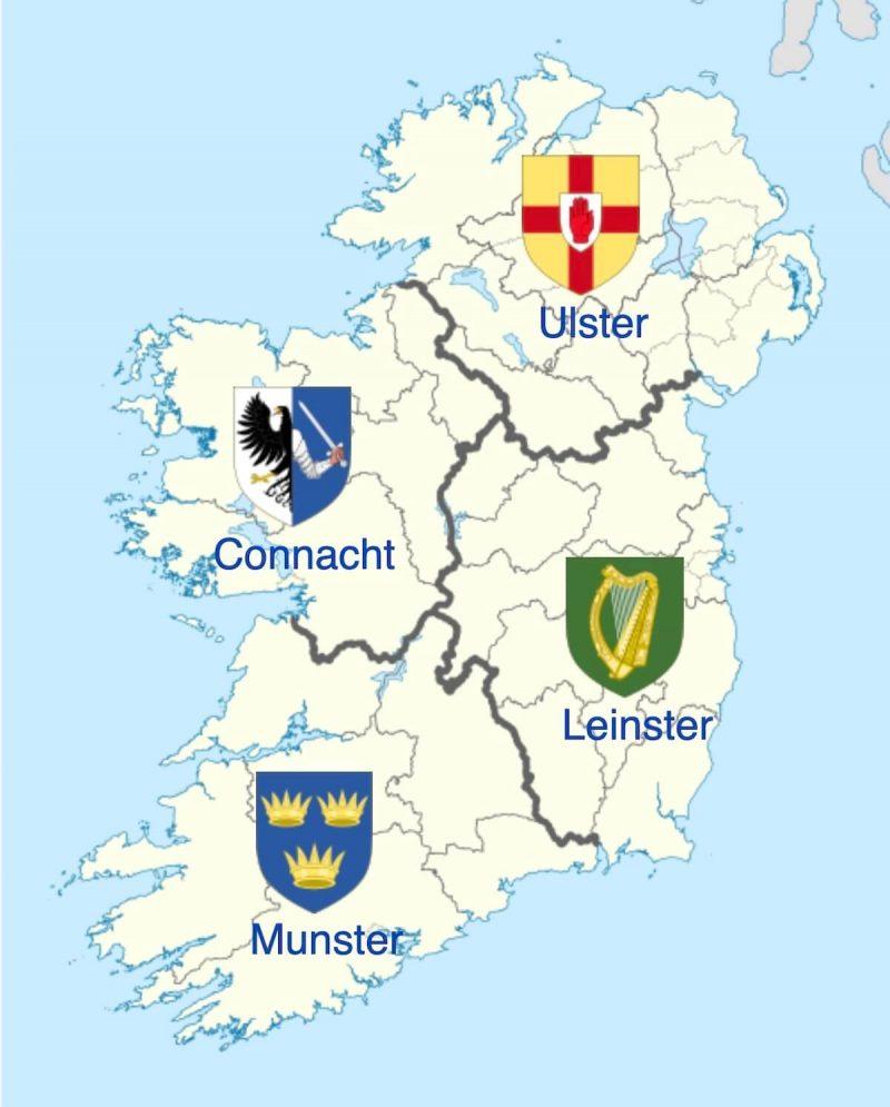 アイルランドの地方